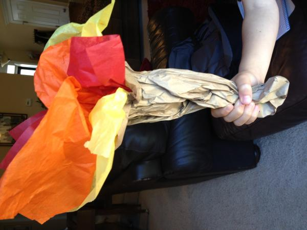 Paper Lunch Bag Torches Example