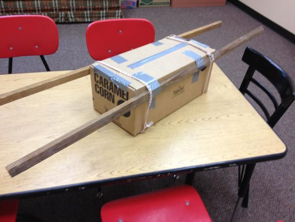 Cardboard box Ark of the Covenant Example